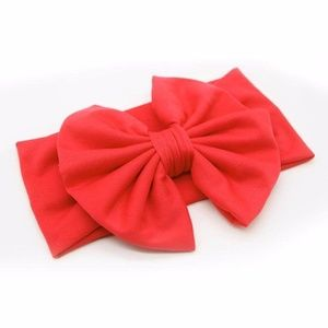Other - NEW baby toddler big bow red headband